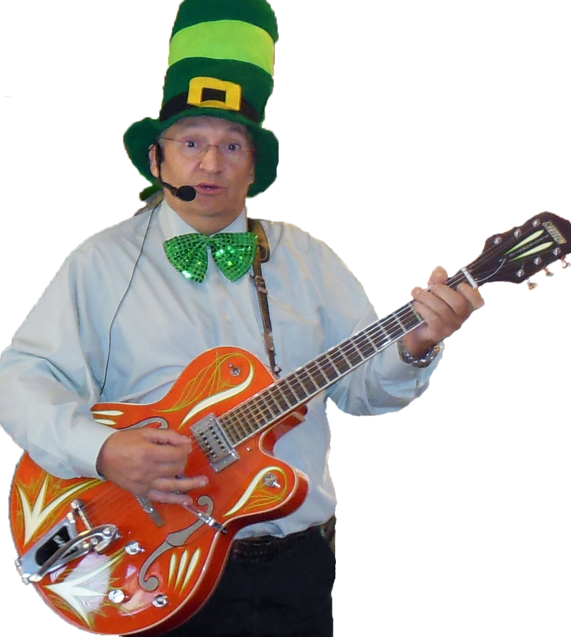 Roger Chartier plays a Gretsch on St Patty's Day